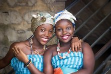 african happy women