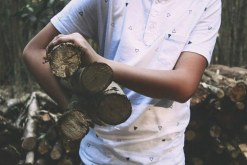 man with firewood
