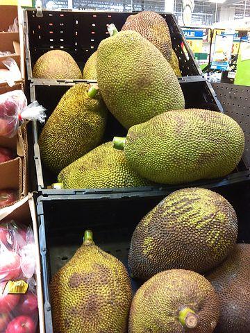 eating jackfruit
